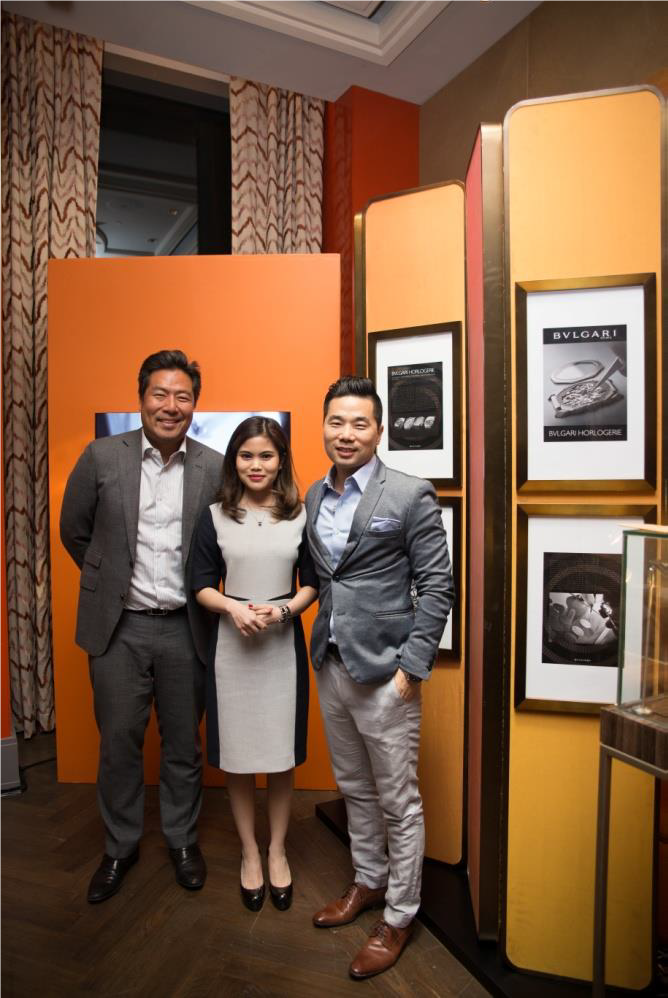 (From left to right): Guests of Bvlgari and Maserati Indonesia Mr Ronald Liem and Mrs Putri Soedarjo, together with Mr Christoph Choi, Managing Director of Porsche Indonesia