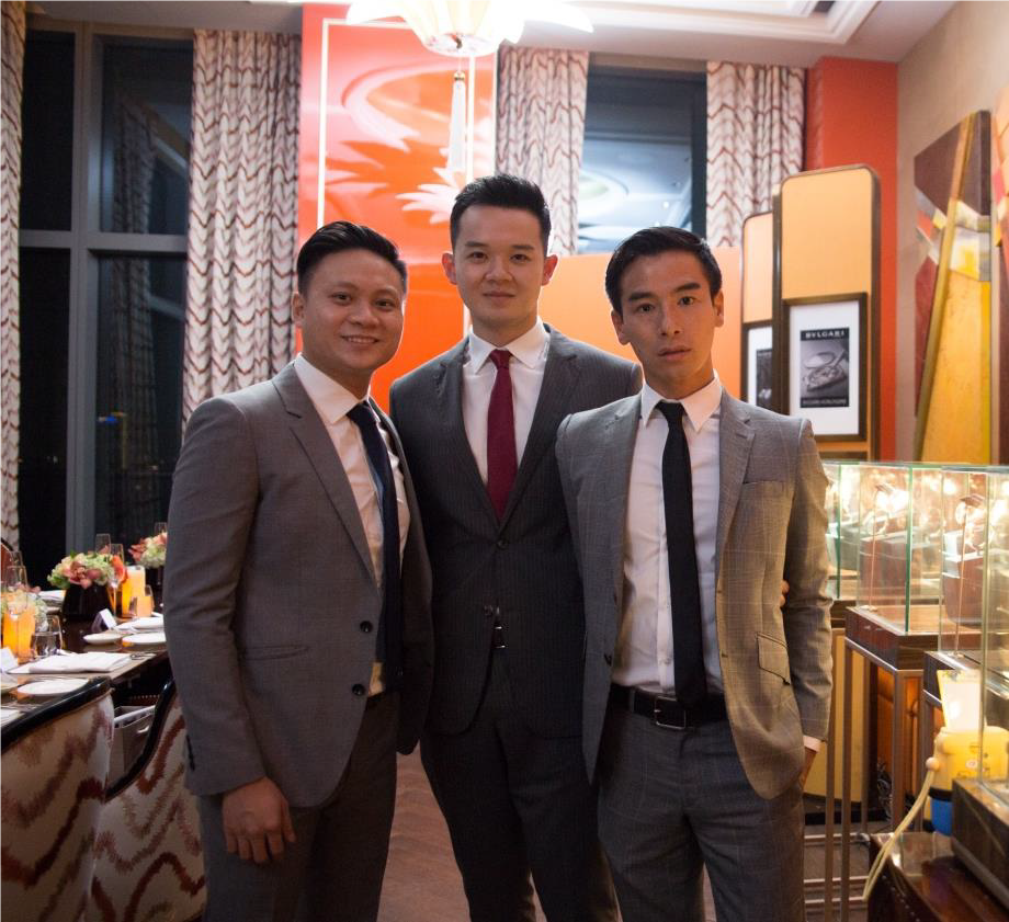 (From left to right): Guests of Bvlgari and Maserati Indonesia – Mr Ronald Wijaya, Mr Jerry Haryanto and Mr Ryo Okawa