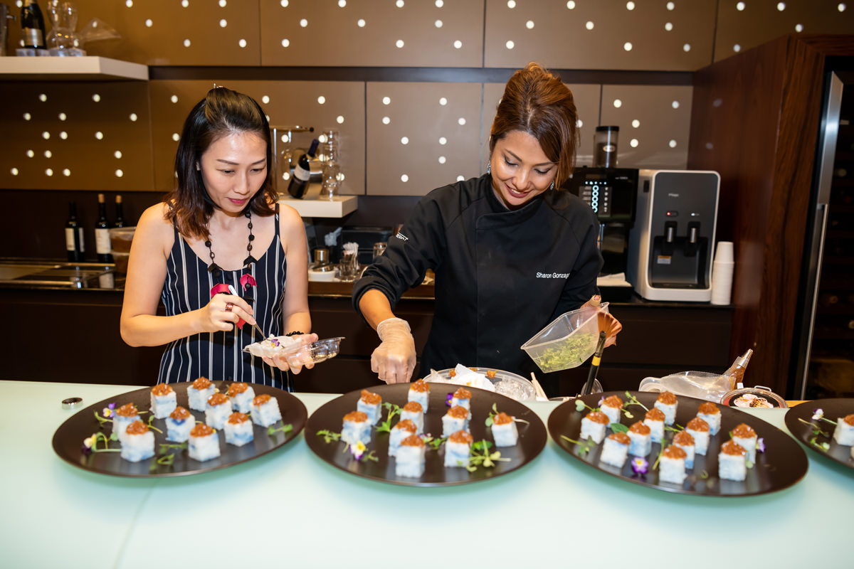 Chef Sharon (right) from Sub-Zero & Wolf South East Asia, together with a Rolls-Royce guest Ms Angel Lee