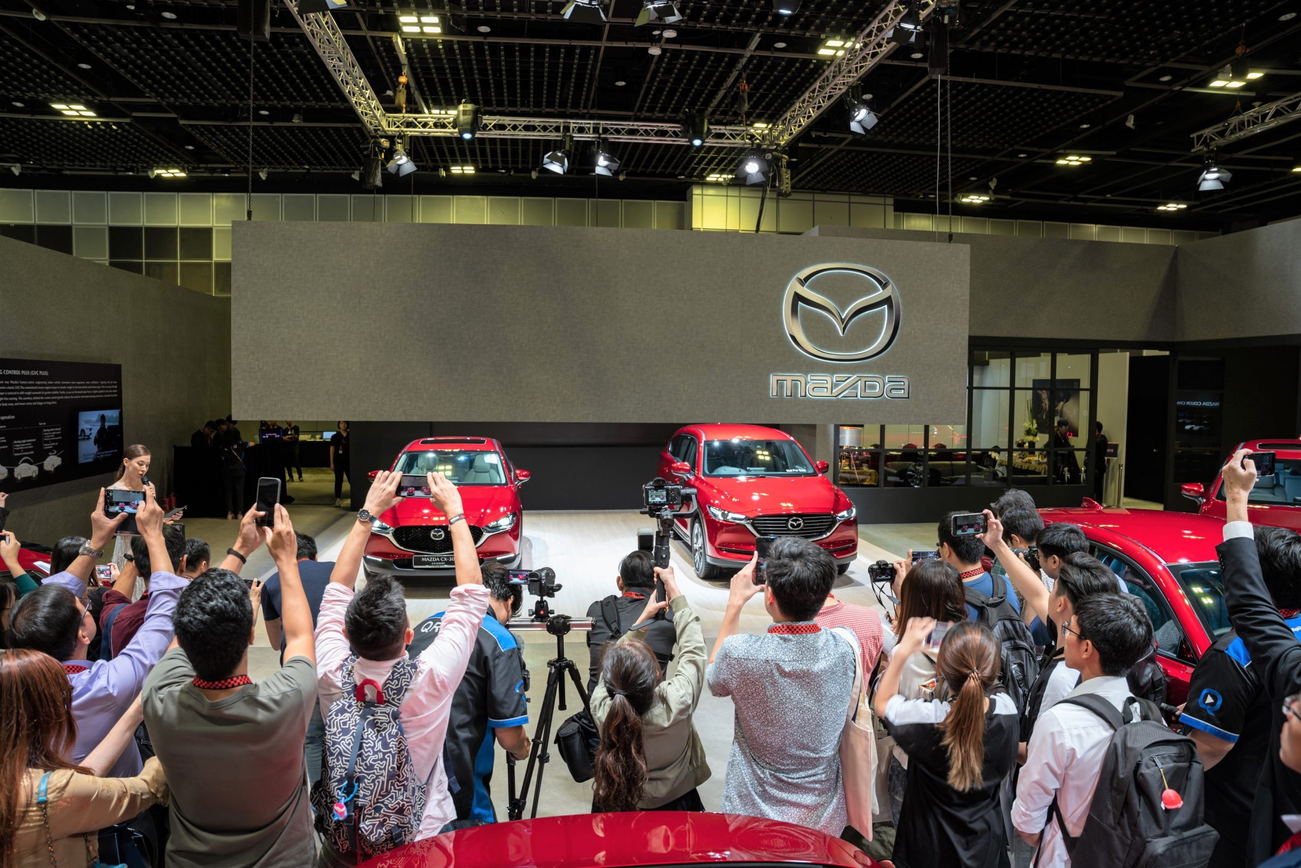 Members of the media at the unveiling of the all-new Mazda CX-30 and Mazda CX-8
