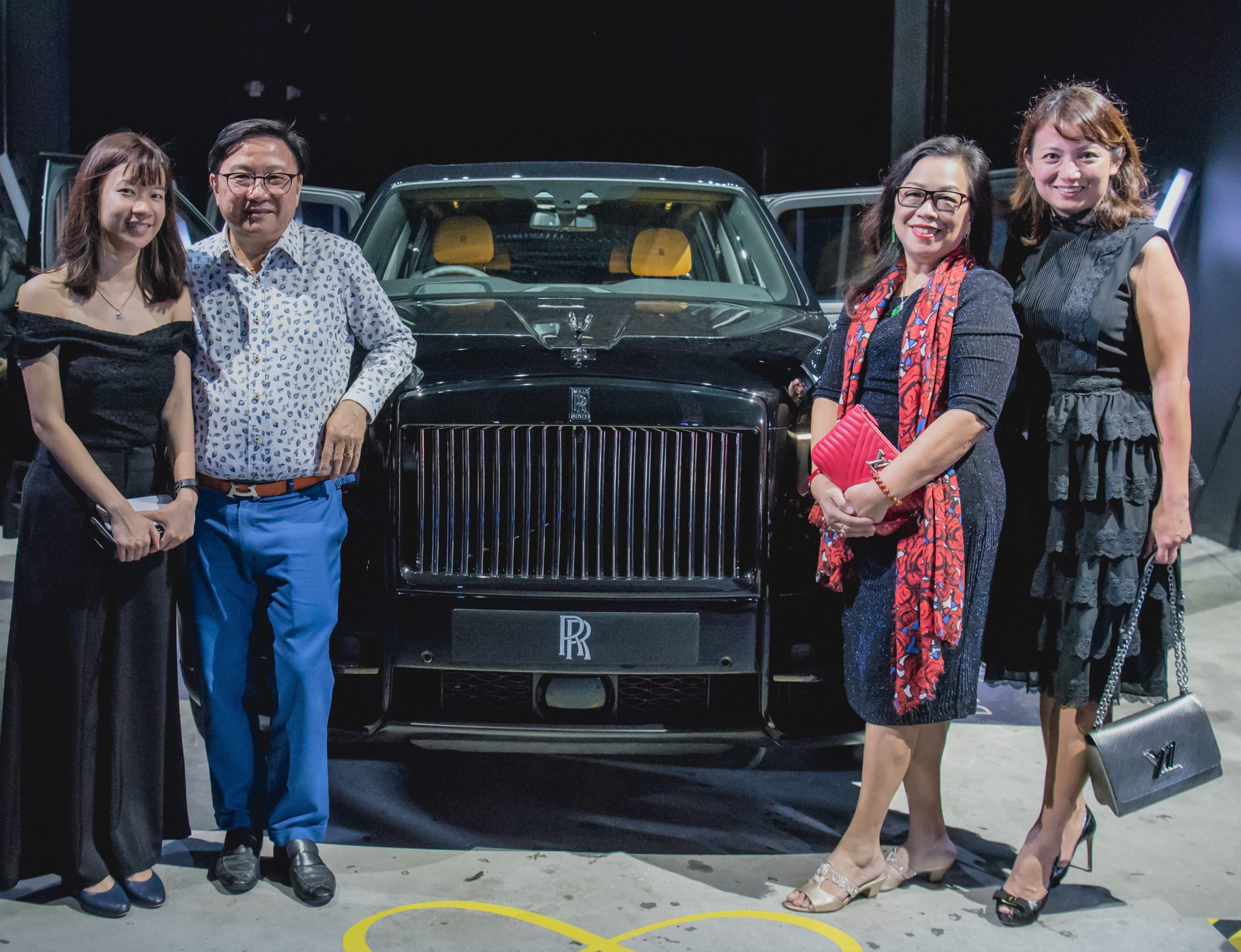 (From left to right) Rolls-Royce guests Ms Ashley Yeo, Mr Frankie Choo, Mrs Alice Choo and Mrs Sally Neo