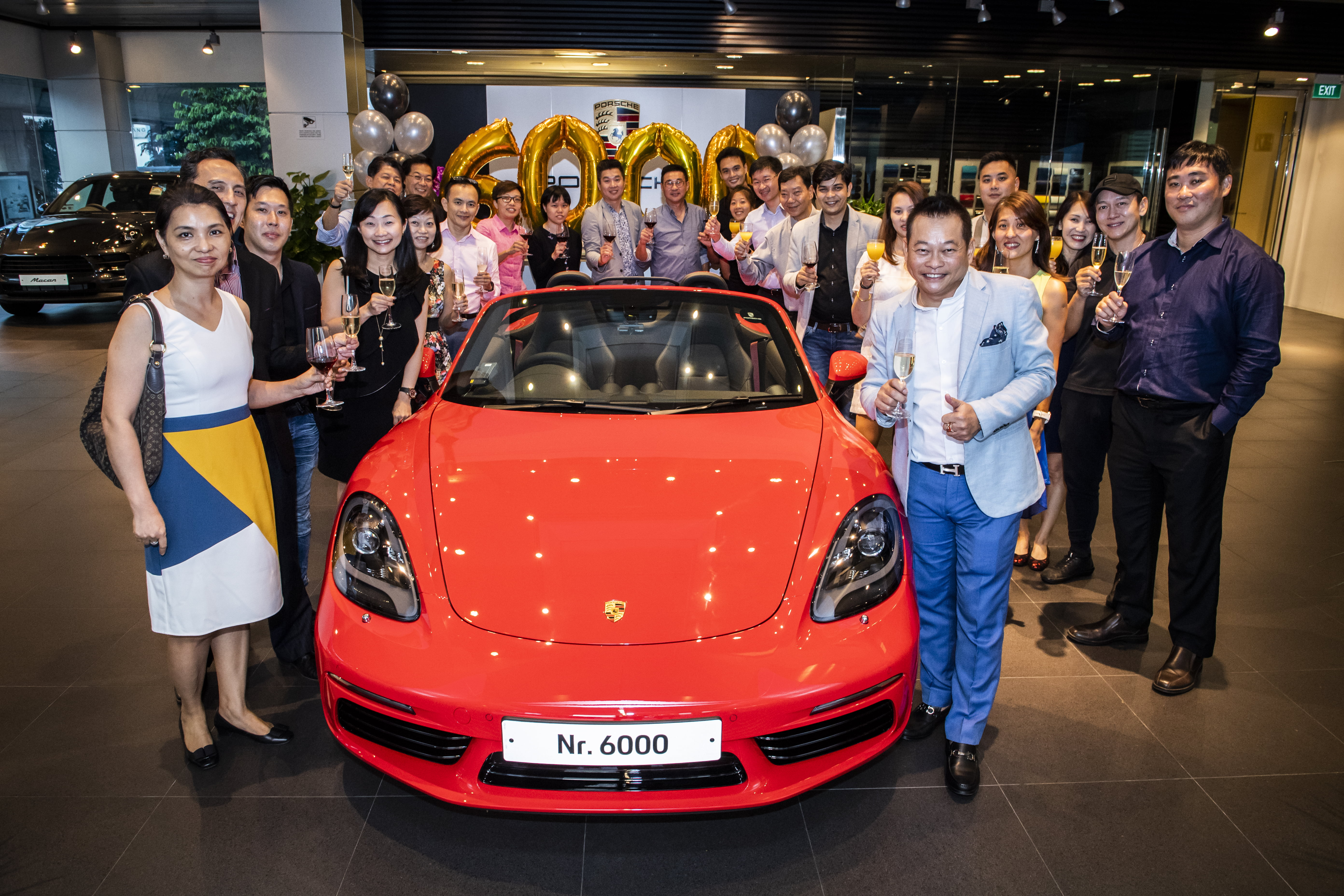 Congratulations to Mr Joe Goh on receiving the 6000th Porsche car in Singapore