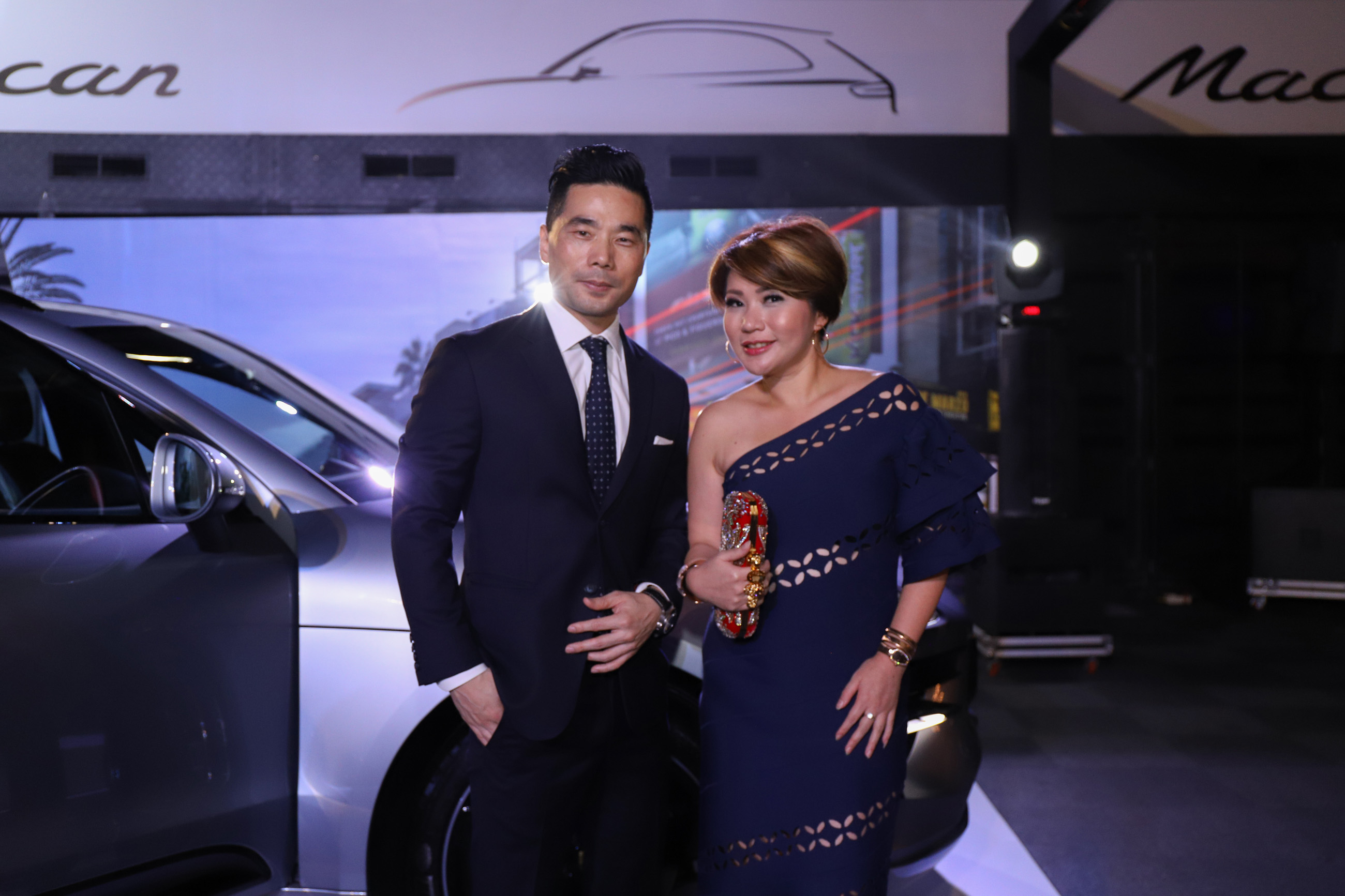 Mr Christoph Choi, Managing Director of Porsche Indonesia (left) together with invited guest Ms Melissa Tjahardika