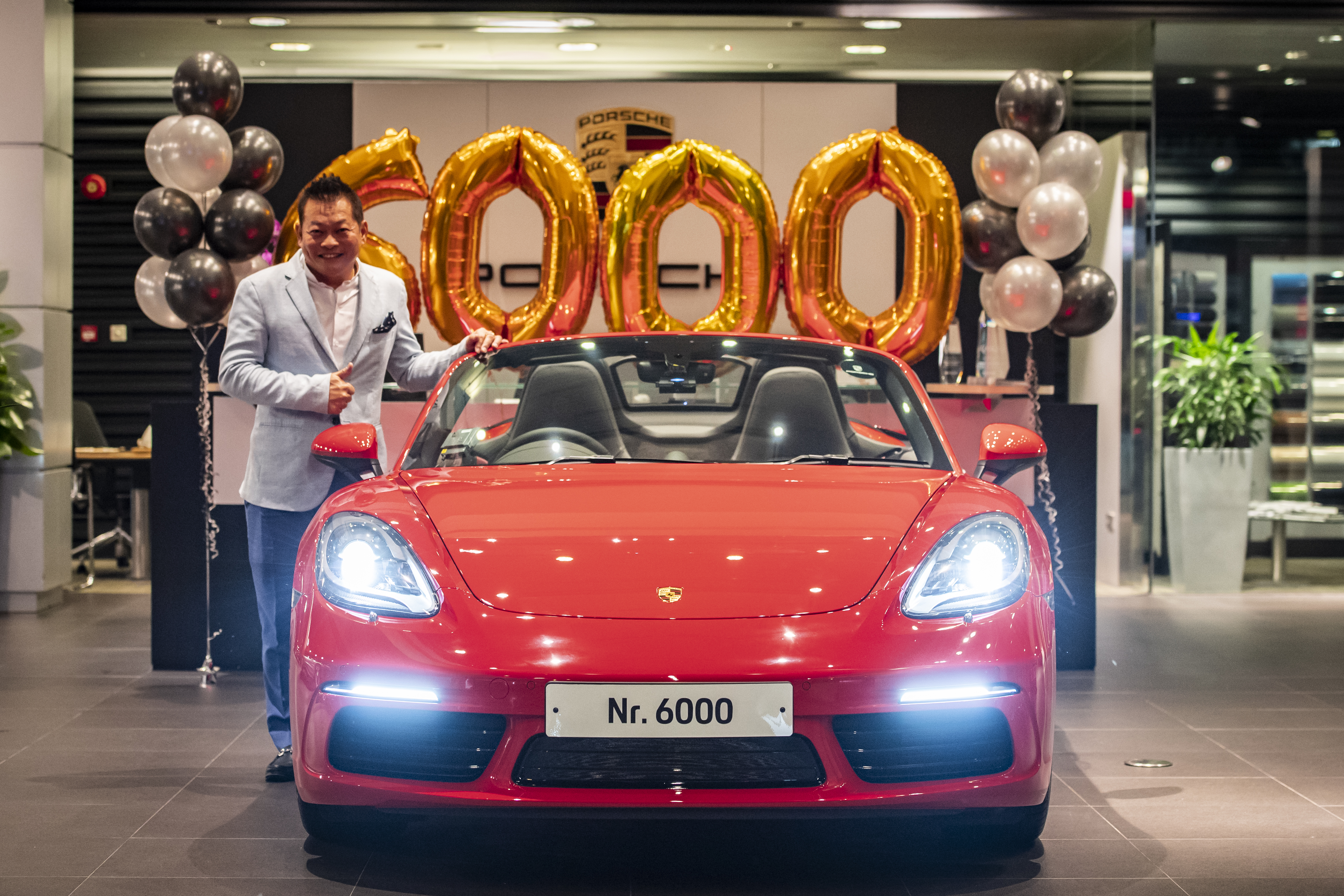 Mr Joe Goh, the proud owner of the 6,000th Porsche car in Singapore
