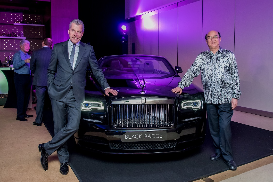 Mr Torsten Müller-Ötvös, CEO of Rolls-Royce Motor Cars (left) and Mr Karsono Kwee Executive Chairman of Eurokars Group