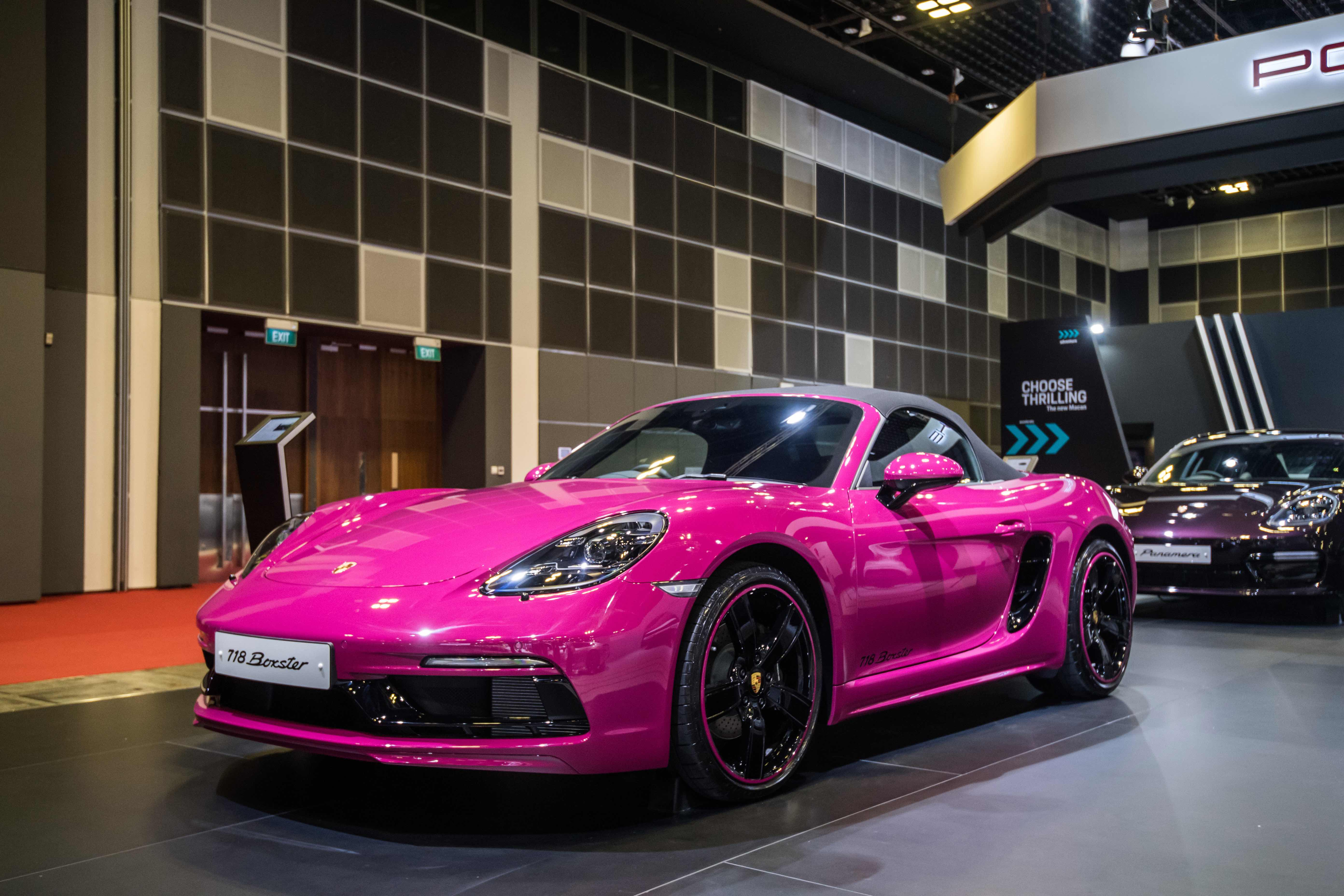 Porsche 718 Boxster at the Singapore Motorshow 2019