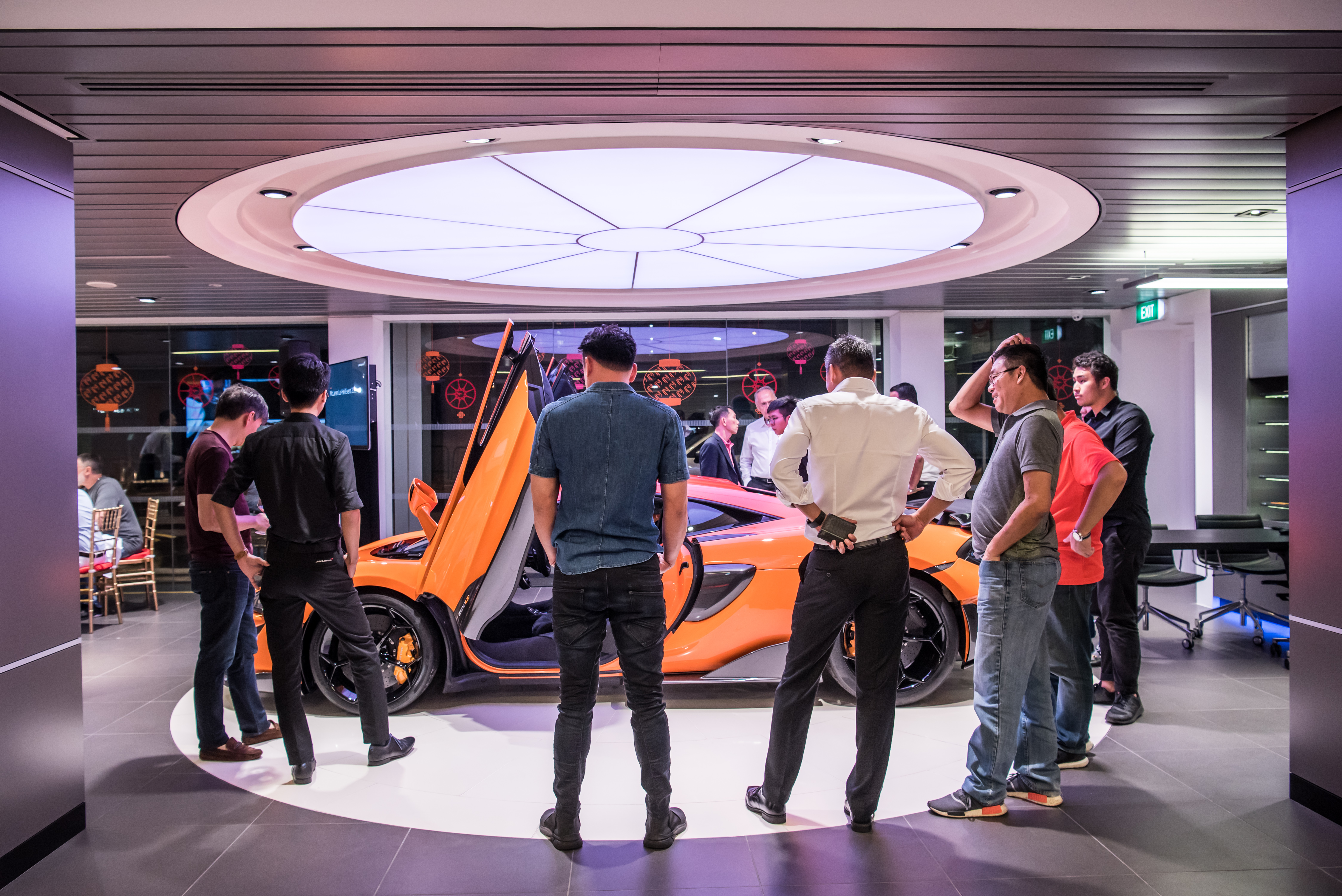 The guests were able to view the new 600LT up close