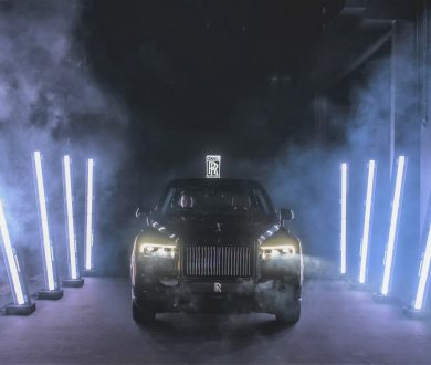 The new Rolls-Royce Black Badge Cullinan makes its entry at the launch event