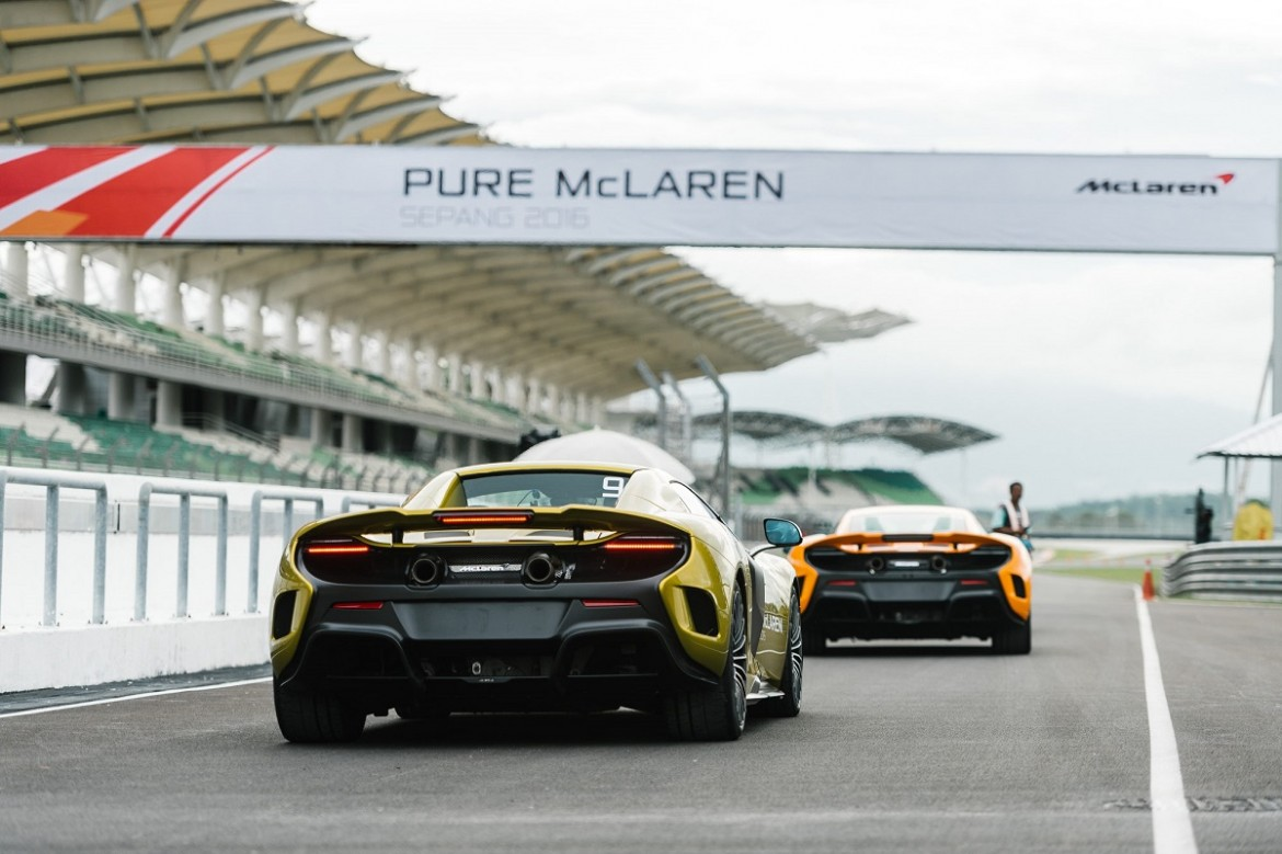 McLaren 650s ready to race down the Sepang Track