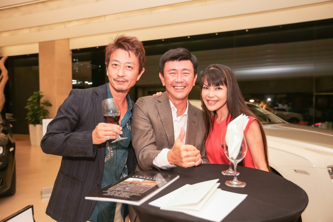 From Left to Right - Mr Kimihisa Abe; Mr Arthur Tay; Mrs Kyoko Abe