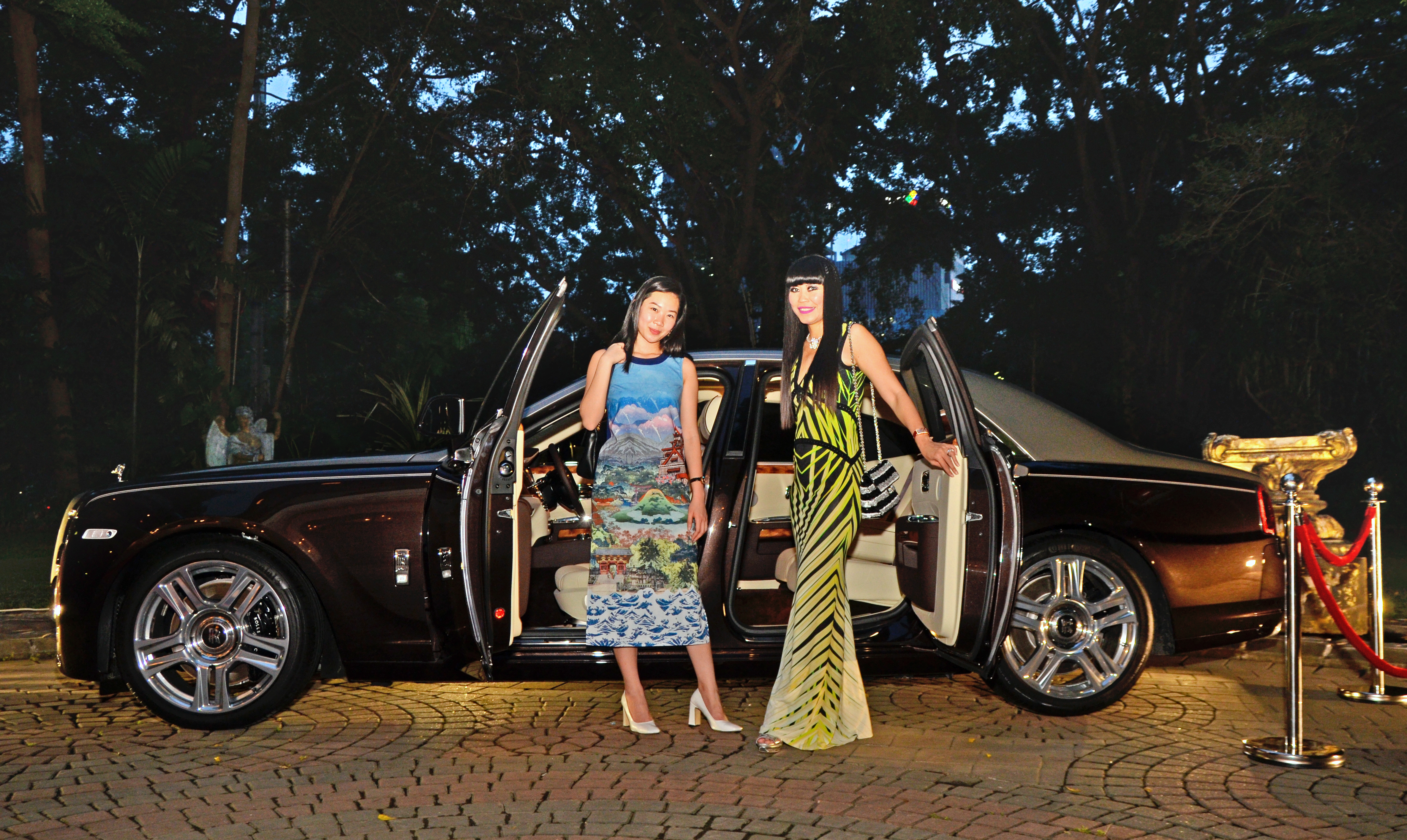 Ms Yvette Yeo, Rolls-Royce Dealer Marketing Specialist (left) and Ms Lenny Marlina Tanu, founder and owner of Exquisite Media Group