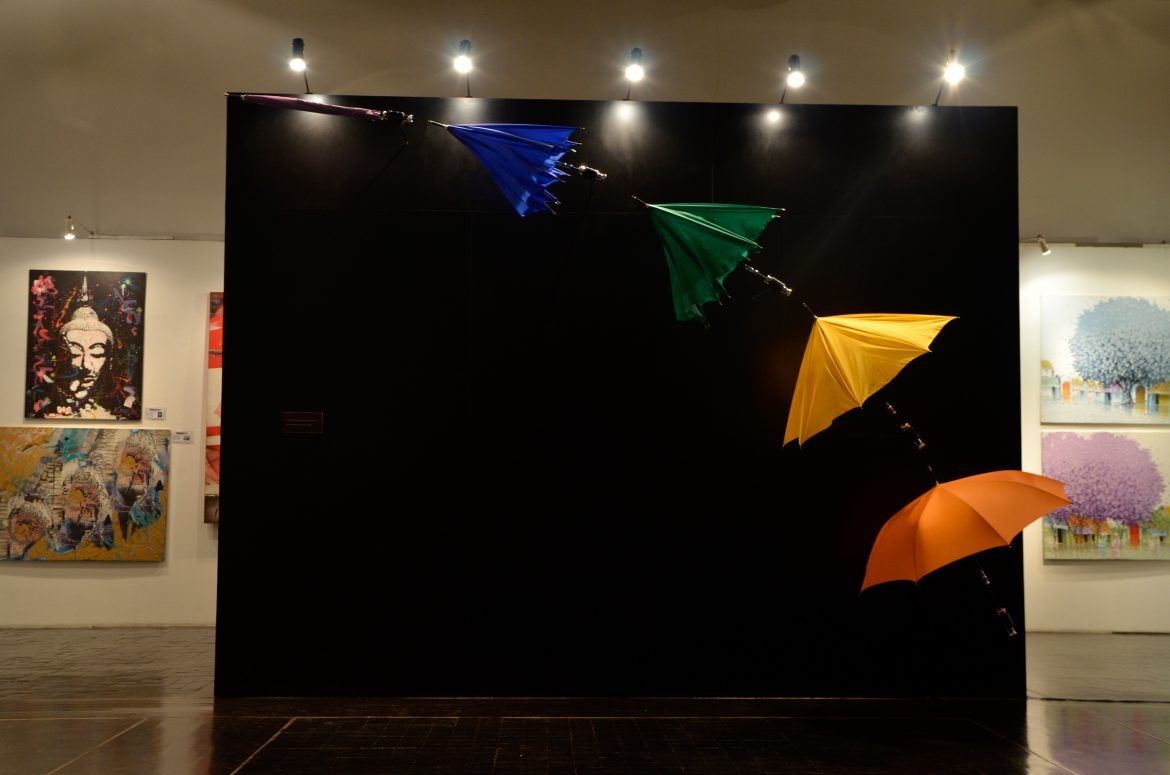 "The Umbrellas of Bespoke""- an exclusive artwork on display"