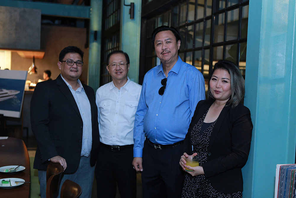 From left to right: Mr Donny Makalew, General Manager for Sales and Aftersales, Rolls Royce Motor Cars (Jakarta), and Rolls-Royce customers Mr Setiawan Mardjuki, Mr Hengky Setiawan and Ms Cynthia Ratna