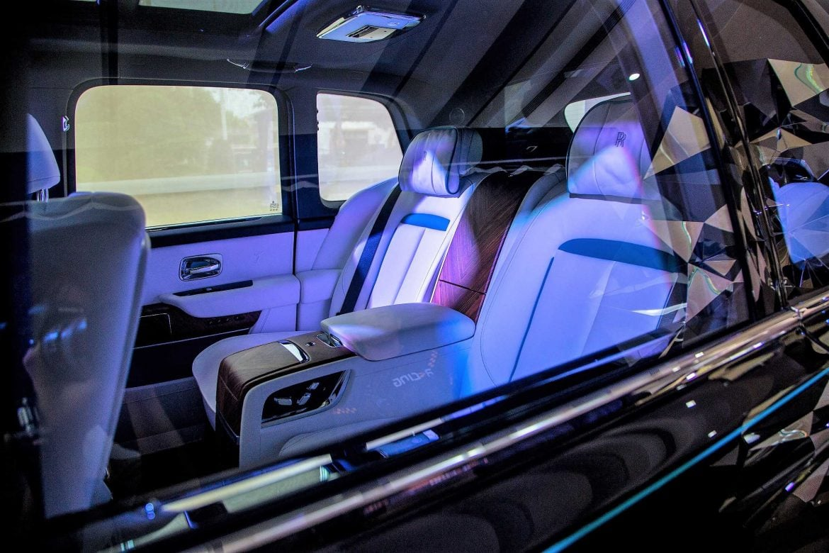 The luxurious interior of the new Rolls-Royce Cullinan