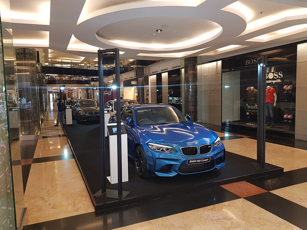 A BMW M2 Coupe on display