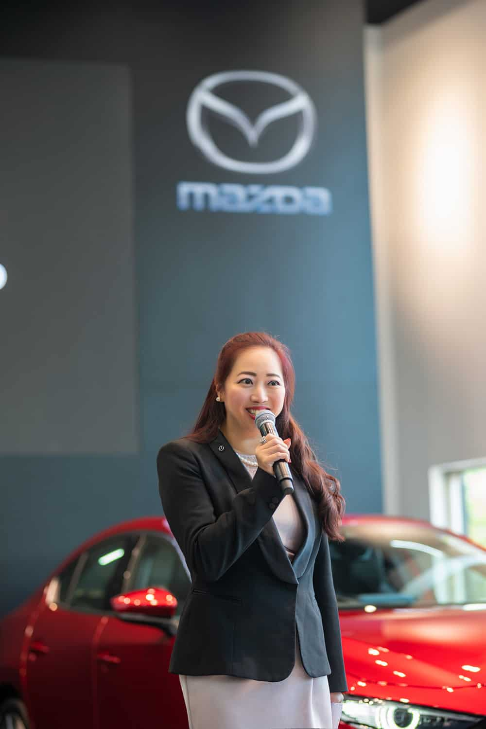 GM, Group PR and Corporate Communications of Eurokars Group hosting the Exclusive Media Showcase event for the All-New Mazda3