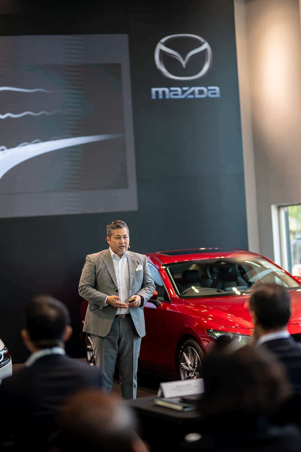 Program Manager of the All-New Mazda3, Mazda Motor Corporation highlights key features of the All-New Mazda3