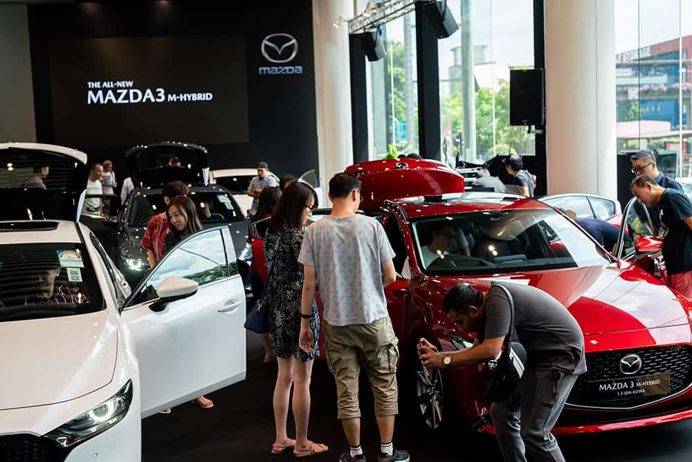 The public had the opportunity to derive a first hand experience of the All-New 2019 Mazda3