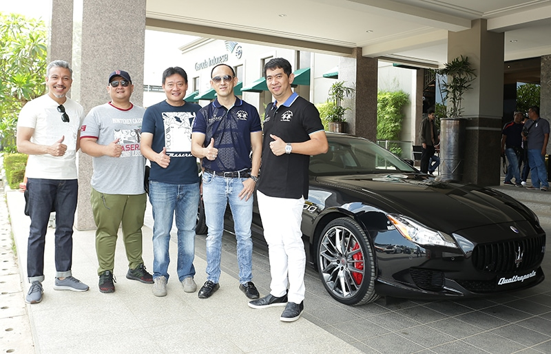 (From left to right) Racing car enthusiast Mr Renaldi Hutasoit; Mr. Donny S. Makalew, General Manager for Sales and Aftersales, Rolls-Royce Motor Cars (Jakarta); Mr Arie Christopher, Director of Operations of Maserati Indonesia; and invited guests Mr Hadi Ong and Mr Victor Sanjaya