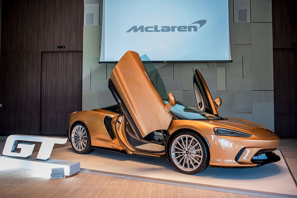 The new McLaren GT in Burnished Copper that was on display
