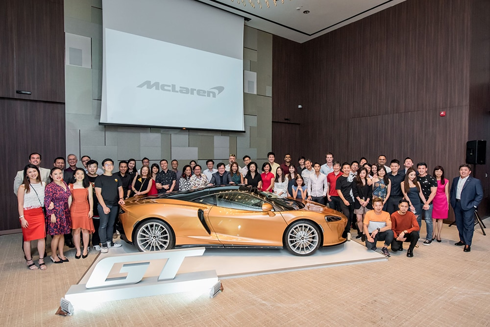 The McLaren family with the new McLaren GT